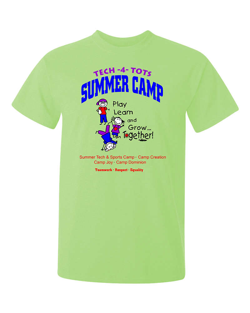 tech camp screen printed tee