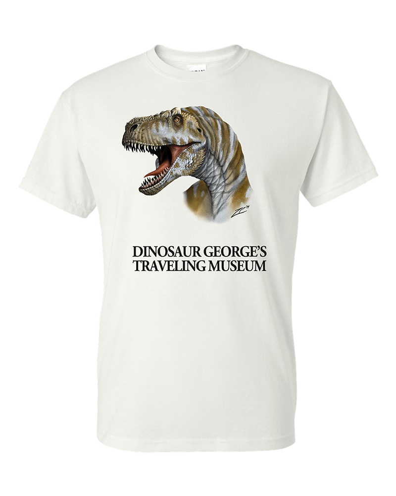 custom dinosaur screen printed tshirt in san antonio